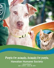 People for animals Animals for people