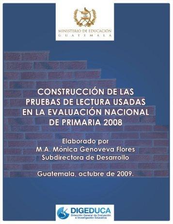 Construcción de las Pruebas de Lectura Primaria 2008 1