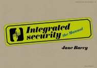 Jane Barry - Integrated security - the Manual