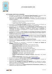 Memoria AGAMFEC 2002 - Asociación Galega de Medicina Familiar ...