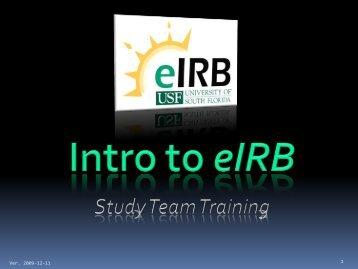 eIRB Homepage