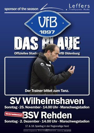 14.00 Uhr · Marschwegstadion - VfB Oldenburg