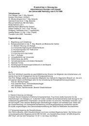 Protokoll der 4. Sitzung des Arbeitskreises Energie und Umwelt der ...