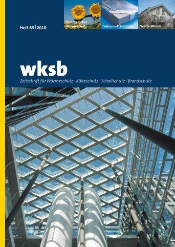 Zeitschrift für Wärmeschutz · Kälteschutz · Schallschutz · Brandschutz