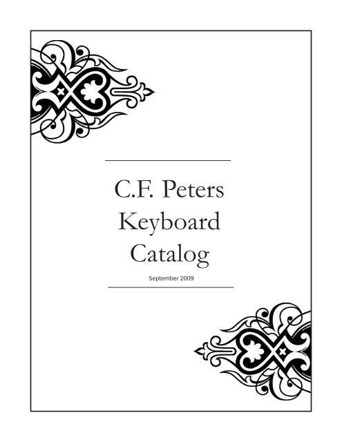 foto de C.F. Peters Keyboard Catalog - Edition Peters