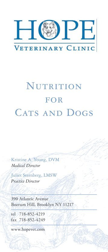 Nutrition for Cats and Dogs