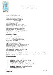 Memoria AGAMFEC 2005 - Asociación Galega de Medicina Familiar ...