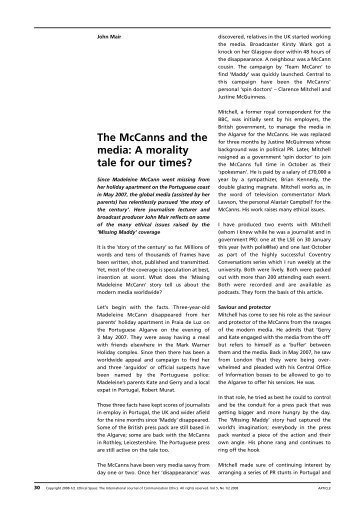 The McCanns and the media: A morality tale for our times?