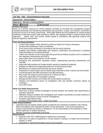 Job Description Form General Description Work Experience ... - Codan