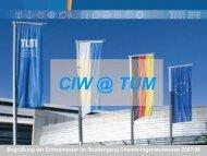 CIW @ TUM Interdisziplinärer Bachelor-/Master-Studiengang ...