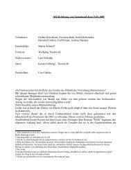 Protokoll von Uwe Gerke - SFGH