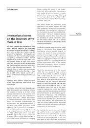 International news on the internet: Why more is less - Institute of ...