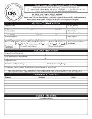 EDF Scholarship Application - Florida Institute of CPAs