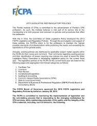 2012 Legislative & Reg Policies - Florida Institute of CPAs