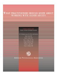 what practitioners should know about working with older adults