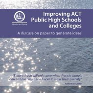 Improving ACT Public High Schools and Colleges