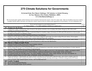 275 Climate Solutions for Governments