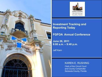 Sarasota County Investment Policy & Reports - Florida Government ...