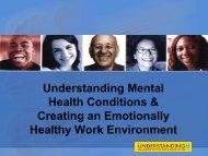 Health Conditions & Creating an Emotionally Healthy Work Environment