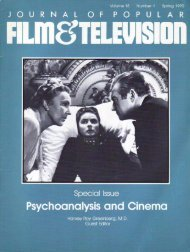 Journal of Popular Film and Television Special Issue, cover and ...