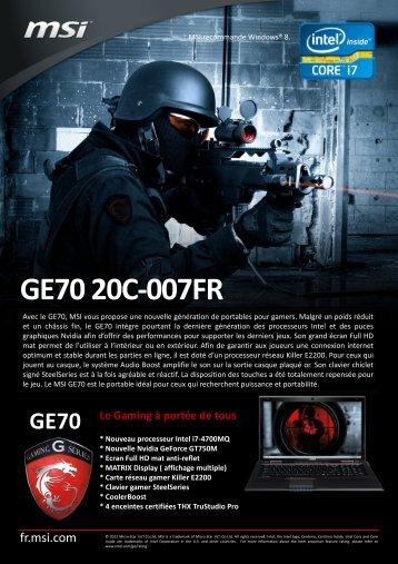 GE70 20C-007FR