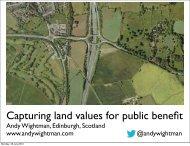 Capturing land values for public benefit