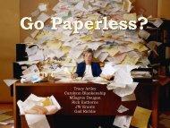 Go Paperless?