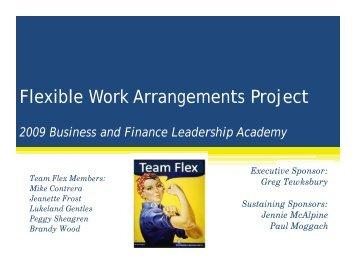 Flexible Work Arrangements Project