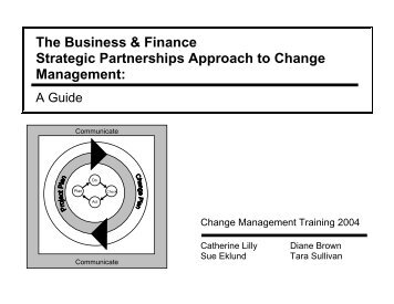 The Business & Finance Strategic Partnerships Approach to Change Management