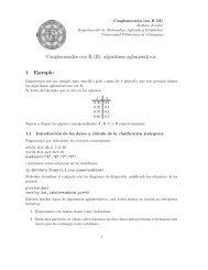 Conglomerados con R (II) algoritmos aglomerativos 1 Ejemplo