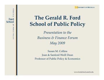 The Gerald R Ford School of Public Policy