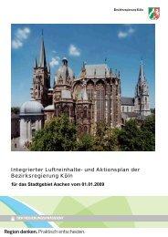 Luftreinhalte- und Aktionsplan Aachen - Bezirksregierung Köln