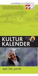 KULTUR KALENDER - Stadt Wesseling