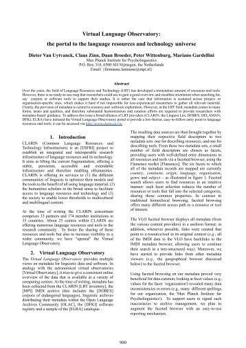 Instructions for Preparing LREC 2006 Proceedings - PubMan