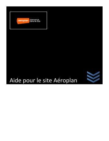 Aide pour le site Aéroplan