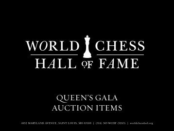 QUEEN'S GALA AUCTION ITEMS