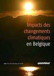 Impacts des changements climatiques en Belgique