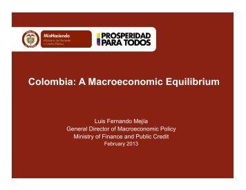 Colombia A Macroeconomic Equilibrium