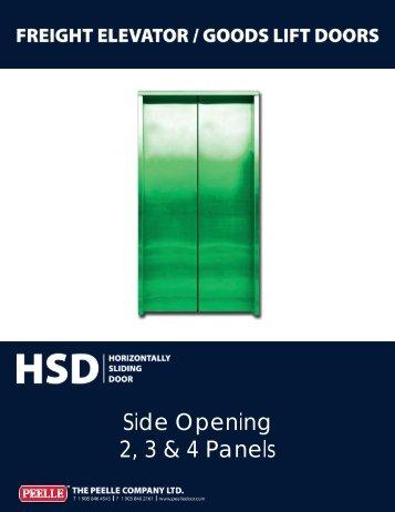 HSD 2, 3 & 4 Panel Side Opening - Peelle Company