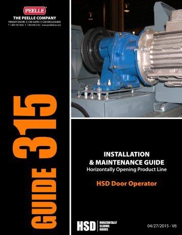 315 - HSD MOTOR INSTALLATION GUIDE.pdf - Peelle Company