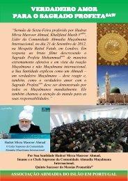 Verdadeiro Amor para o Sagrado Profeta (Pt.) - Ahmadia.pt