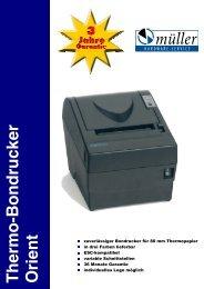 Thermo-Bondrucker Orient - Müller Hardware-Service GmbH