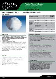 BLS 120B FFP1 NR D EN 149:2001+A1:2009 Riquadro per immagine
