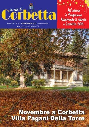 Novembre a Corbetta Villa Pagani Della Torre