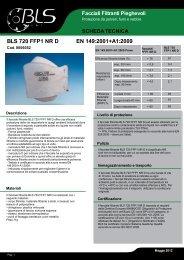 BLS 720 FFP1 NR D EN 149:2001+A1:2009