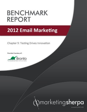 2012 Email Marketing Benchmark Report