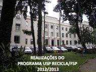 Divulgação do Programa USP Recicla