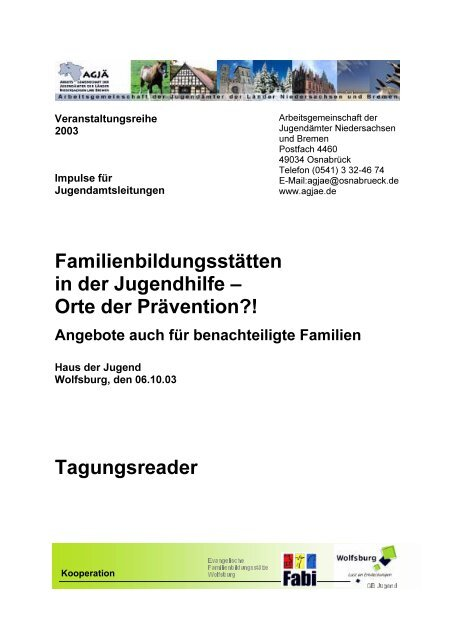 "AGJÃ"" Tagungsreader 2003 (PDF, 514 KB) - Wolfsburg"
