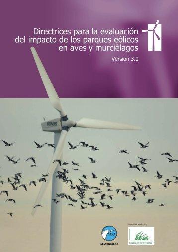 Directrices para la evaluación del impacto de los ... - SEO/BirdLife