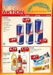 Nestlé Havana Club 3 Jahre 40%  Aperol 15% Ouzo 12 38% Red Bull